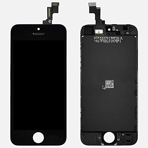 Generic OEM Black Retina LCD Touch Screen Digitizer Glass Replacement Full Assembly for iPhone 5C (Iphone 5 Color Conversion compare prices)