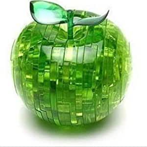 PicknBuy 3D Crystal Apple Jigsaw Puzzle IQ Toy Model Decoration (Green)