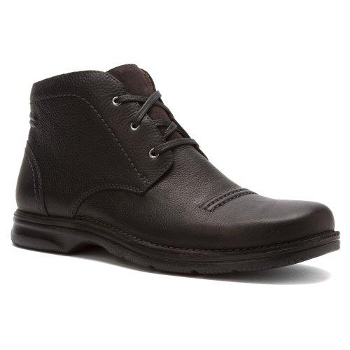 Clarks Senner Drive Mens Black Leather 8.5-MEDIUM