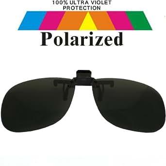 Spectacles Clip On Black Lens Polarized Sunglasses 1521