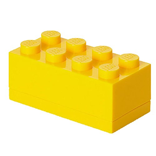 LEGO - Mini caja de almuerzo 8, color amarillo (Room Copenhagen A/S 40121732)