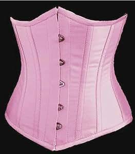 Angel&Me Medium Size Pink Satin Underbust Corset Underbust Waist Cincher Waistnipper (Tutu,Panties,Pantyhose not included)