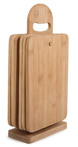 Core Bamboo 7-Piece Sandwich Board Set, Natural