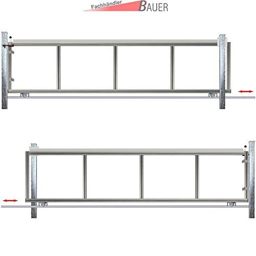 schiebetor hoftor bausatz h 140 b 430. Black Bedroom Furniture Sets. Home Design Ideas