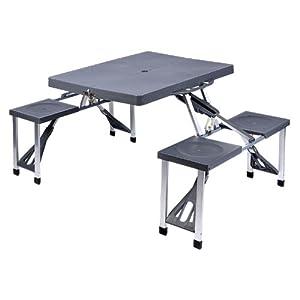 Relaxdays table de camping table pliante table de pique - Table camping pliante avec siege ...