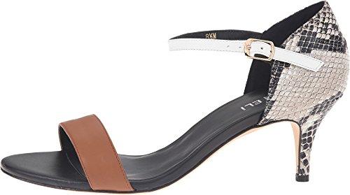 Vaneli Women's Lalita Tan Calf/Roccia Vero/White Bulgaro/Black Ferns Sandal 7.5 M (B)