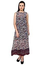 Long Printed Dress(Multi,M)