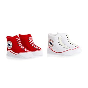 Converse Baby Bootie Gift Set Socks - Converse Red/converse White