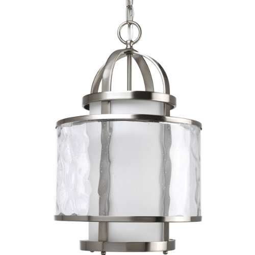 B0034TTMCG Progress Lighting P3701-09 1-Light Bay Court Foyer Fixture, Brushed Nickel
