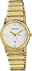 Sonata Analog White Dial Mens Watch - 7023YM07