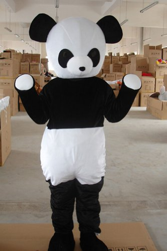 Warmcos Panda Mascot Costume Cartoon Character Fancy Dress Outfit