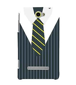 Stripes Executive Dress 3D Hard Polycarbonate Designer Back Case Cover for HTC Windows 8S