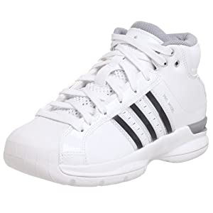 adidas Women's Pro Model 08 Team Color Basketball Shoe,White/White/Silver,10 M