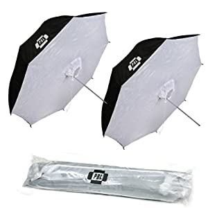 PBL Photo Studio 40 inch Reflective Umbrella Softboxes Set of Two Steve Kaeser Photographic Lighting and Accessories