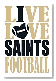 Live Love I Heart Saints Football lined journal - any occasion gift idea for New Orleans Saints fans from WriteDrawDesign.com