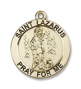 14kt Gold St. Lazarus Medal