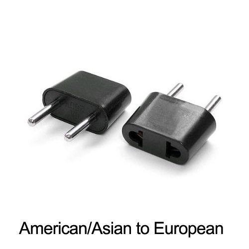 Ckitze Eu-12Pk American To European Outlet Plug Adapter - 12 Pack
