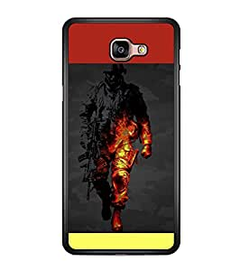 printtech Battlefield Game View Back Case Cover for Samsung Galaxy A9 (2016)