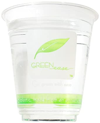 "IFN Green 25-2012-98 Green Ease PLA Cold Cup, 12 oz Capacity, 3.85"" Diameter x 4.10"" Height (Case of 1000)"