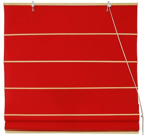 "Cotton Roman Window Shades - Red 60"""