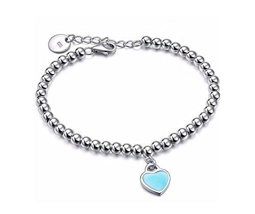 bracelet-perles-rondes-4mm-plaque-argent-sterling-925-avec-pendentif-coeur-emaile-bleu-turquoise