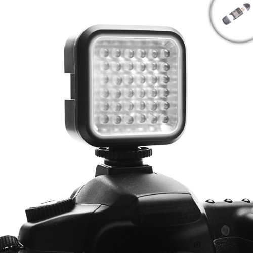 Enhance Vidbright 36 Rechargeable High Output Balanced Light Led Camera / Video Light Panel W/ Built-In Diffuser For Canon Sx170 , Sx510 , Sx40Hs , Fujifilm S2950 And Others **Includes 4 In 1 Card Reader**