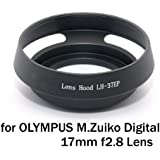 EasyFoto Lens hood for OLYMPUS M.Zuiko Digital 17mm f2.8 and Lens