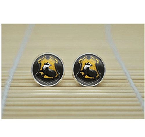 [HP Hogwarts Crest Earrings Rowena Ravenclaw Earrings jewelry glass Cabochon Earrings] (Rowena Ravenclaw Costume)