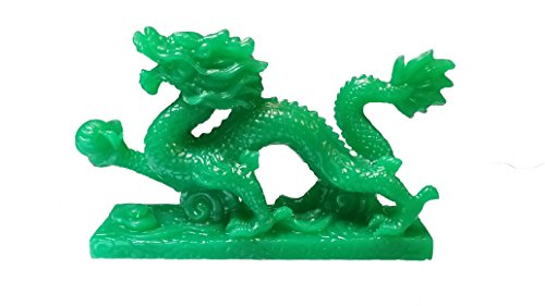 NEW Jade Chinese Feng Shui Dragon Figurine Statue for Luck & Success #S