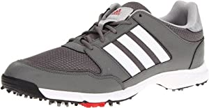 adidas Men's Tech Resonse 4.0 Golf Shoe,Iron/White/Black,12 M US