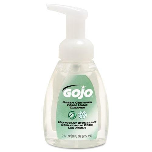 Go-Jo 571506CT Green Certified Foam Soap, Fragrance-Free, Clear, 7.5 oz. Pump Bottle