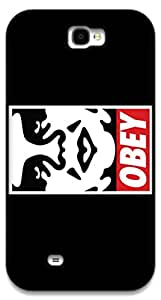 The Racoon Grip OBEY hard plastic printed back case / cover for Samsung Galaxy Note 2