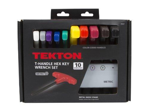 Tekton 2547 T Handle Hex Key Wrench Set Metric 10 Piece