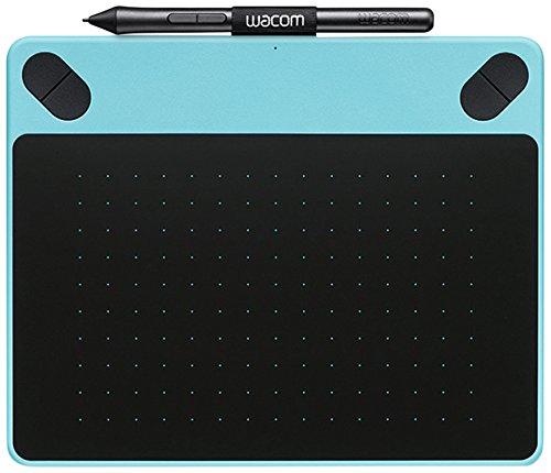 Wacom Intuos Art - Tableta gráfica (2540 lpi, 1024 niveles, incluye bolígrafo), tamaño pequeño, color azul