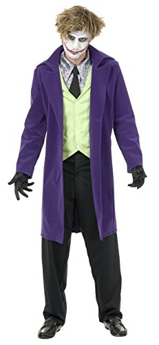 Boys Psycho The Joker Clown Costume