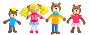 Tellatale Goldilocks Finger Puppet Set