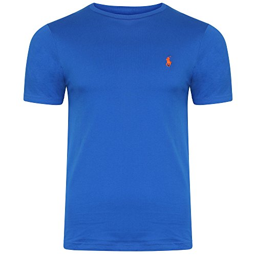 Ralph Lauren da uomo girocollo T-Shirt maniche corte Small Pony S/M/L/XL/nero, blu, grigio, bianco-Factory secondi Royal Blue Large