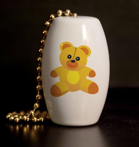 Teddy Bear Baby Porcelain Fan / Light Pull front-1073271