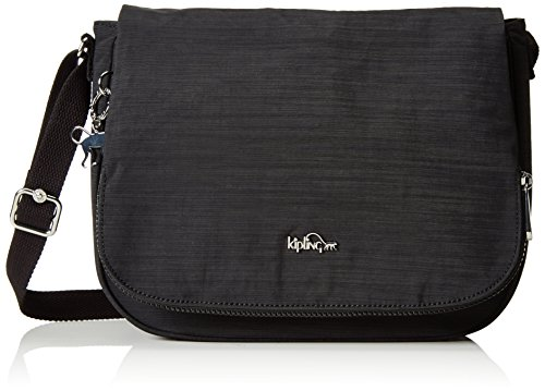 Kipling Earthbeat M, Borsa a Tracolla Donna, Nero (REFH53 Dazz Black), 30x22.5x10.5 cm (B X H X T)