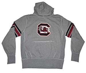 South Carolina Gamecocks Colosseum Gray Arm Striped Hoodie Sweatshirt (L) by Colosseum