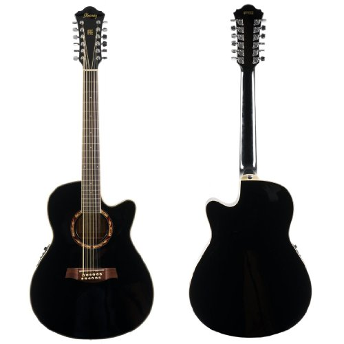 Ibanez AEF Series AEF1812EBK 12 String Acoustic Electric Guitar &#8211; Black