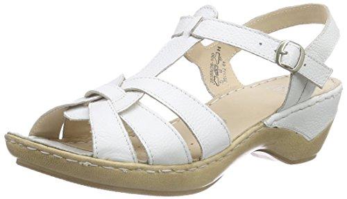 Caprice28355 - Sandali Donna , Bianco (bianco (White 100)), 39