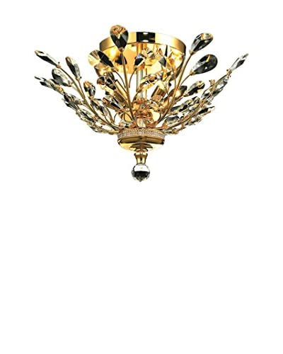 Light Points Orchid Flush Mount, Gold