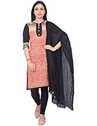 Rama Designer Printed Red Color Kurti With Black Legging And Dupatta Suit Set