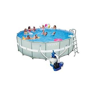 avis intex 54956fr piscine kit piscine ultra frame 5 49 x 1 32 m tubulaire m tal ronde. Black Bedroom Furniture Sets. Home Design Ideas