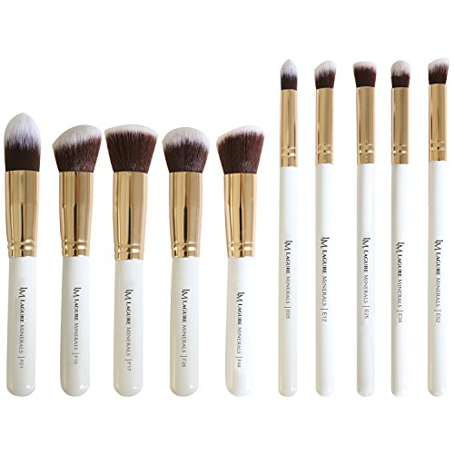 Premium Kabuki Makeup Brush Set - The Perfect Makeup Brushes for Your Eyeshadow, Contour Kit, Blush, Foundation, Concealer, Face Powder - Includes Cosmetic Brush Guide (Best Concealer Brush compare prices)