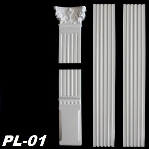 3 meter pilaster flachs ule wands ule s ule stuck stuckprofil wandprofil pl 01. Black Bedroom Furniture Sets. Home Design Ideas