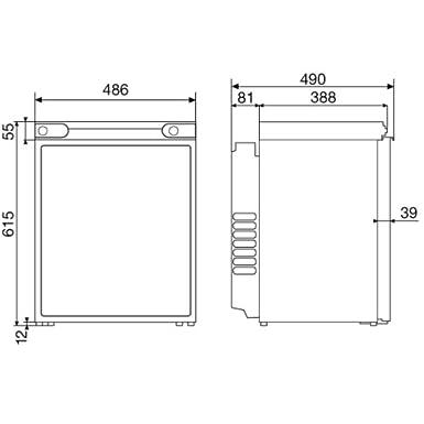 Dometic RF60 Réfrigérateur 61 L Noir, Argent
