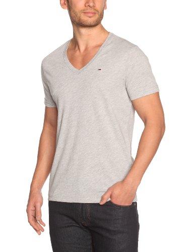 Tommy Hilfiger Panson Vn Shortsleeve KIR38 Logo Men's T-Shirt Light Grey Heather XX-Large