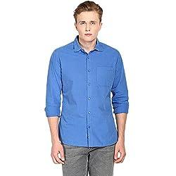 Hueman Blue Full Sleeve Cotton Shirt